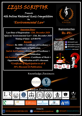 4th Online National Quiz competition by Legis Scriptor