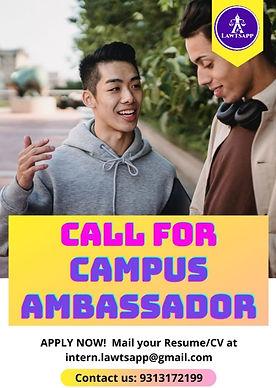 Call For Campus Ambassador at Lawtsapp