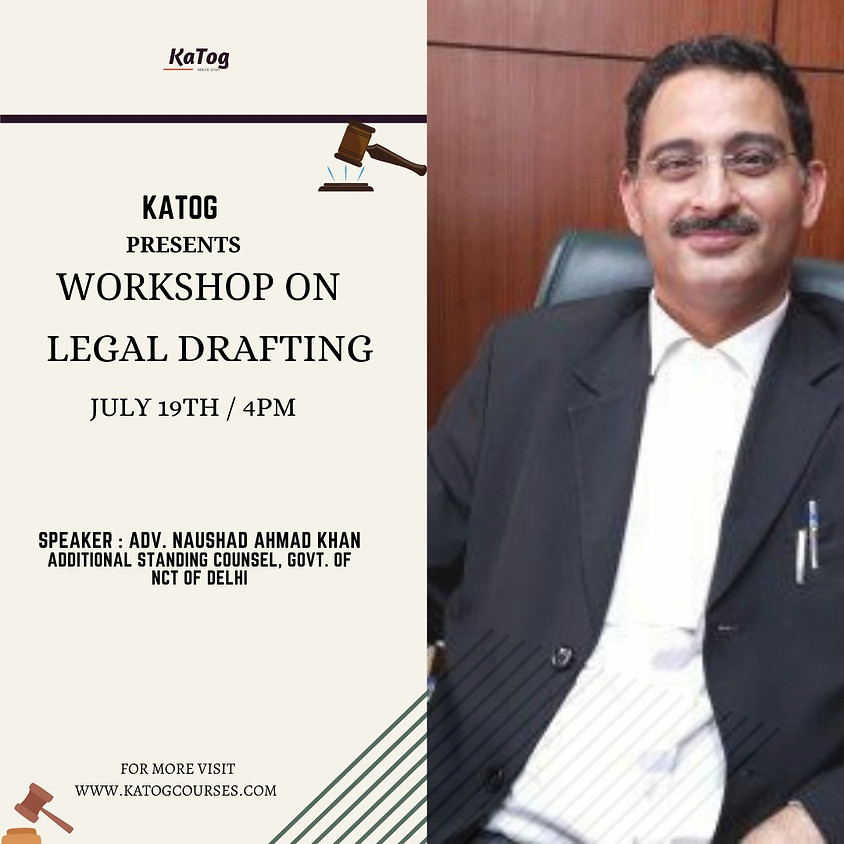 Workshop on Legal Drafting by KaTog