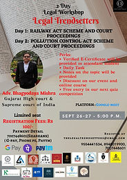 2 Day Legal Workshop by Legal Trendsetters.