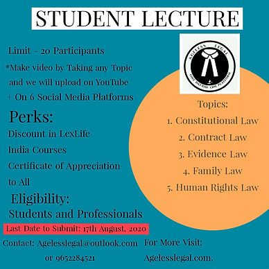 Student Lecture by Ageless legal