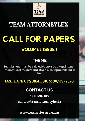 CALL FOR PAPERS BY TEAM ATTORNEYLEX