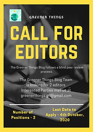 Call for Editors by Greener Things