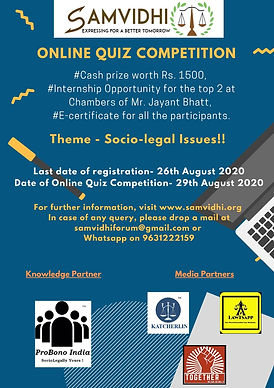 Online Quiz Competition 2020 by SAMVIDHI