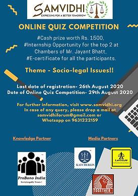 Online Quiz Competition 2020 by SAMVIDHI