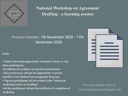 National Workshop on Agreement Drafting by Impart Victory