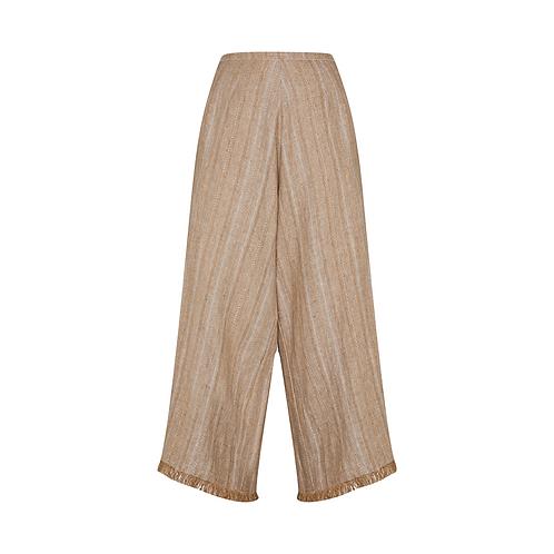 Frayed Cotton + Linen Trouser