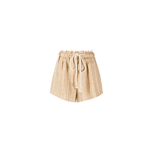 Herringbone Cotton + Linen Short