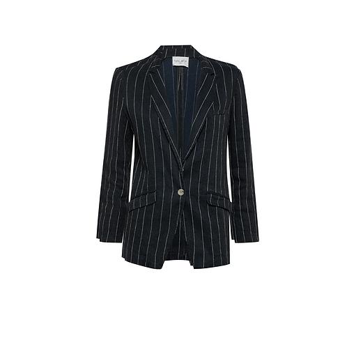 Cotton + Linen Pinstripe Blazer