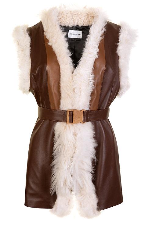 Awassi Leather Waistcoat