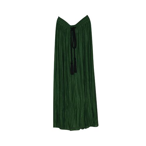 Drawstring-waist Midi Skirt
