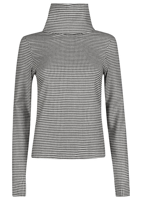 Dogwood Houndstooth Rollneck