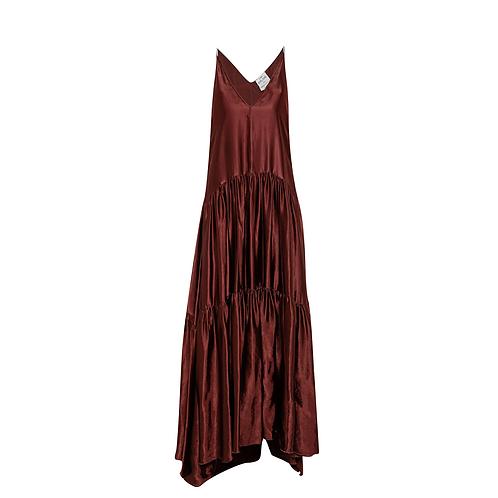 Spaghetti-Strap Moire Satin Dress