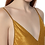 Thumbnail: Light Weight Jacquard Gold Slip Dress