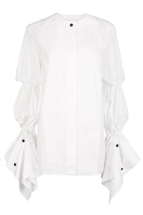 Charolais Cotton Gathered Shirt