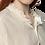 Thumbnail: Ruffle Collar Gauze Blouse