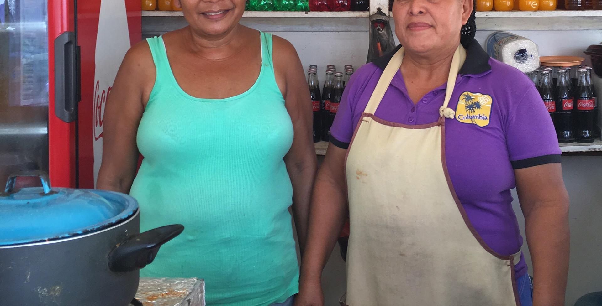 Thelma Kelvin and Gloria Itza