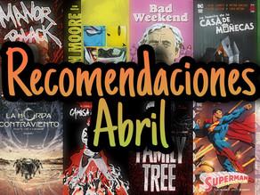 Recomendaciones Abril