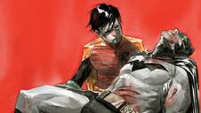 La portada de Robin y Batman reinventa una muerte en la desgarradora escena familiar