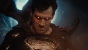Superman usa su visión de calor con el traje negro en el avance del tráiler de la Justice league