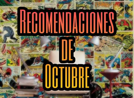 Nuestras recomendaciones de Octubre