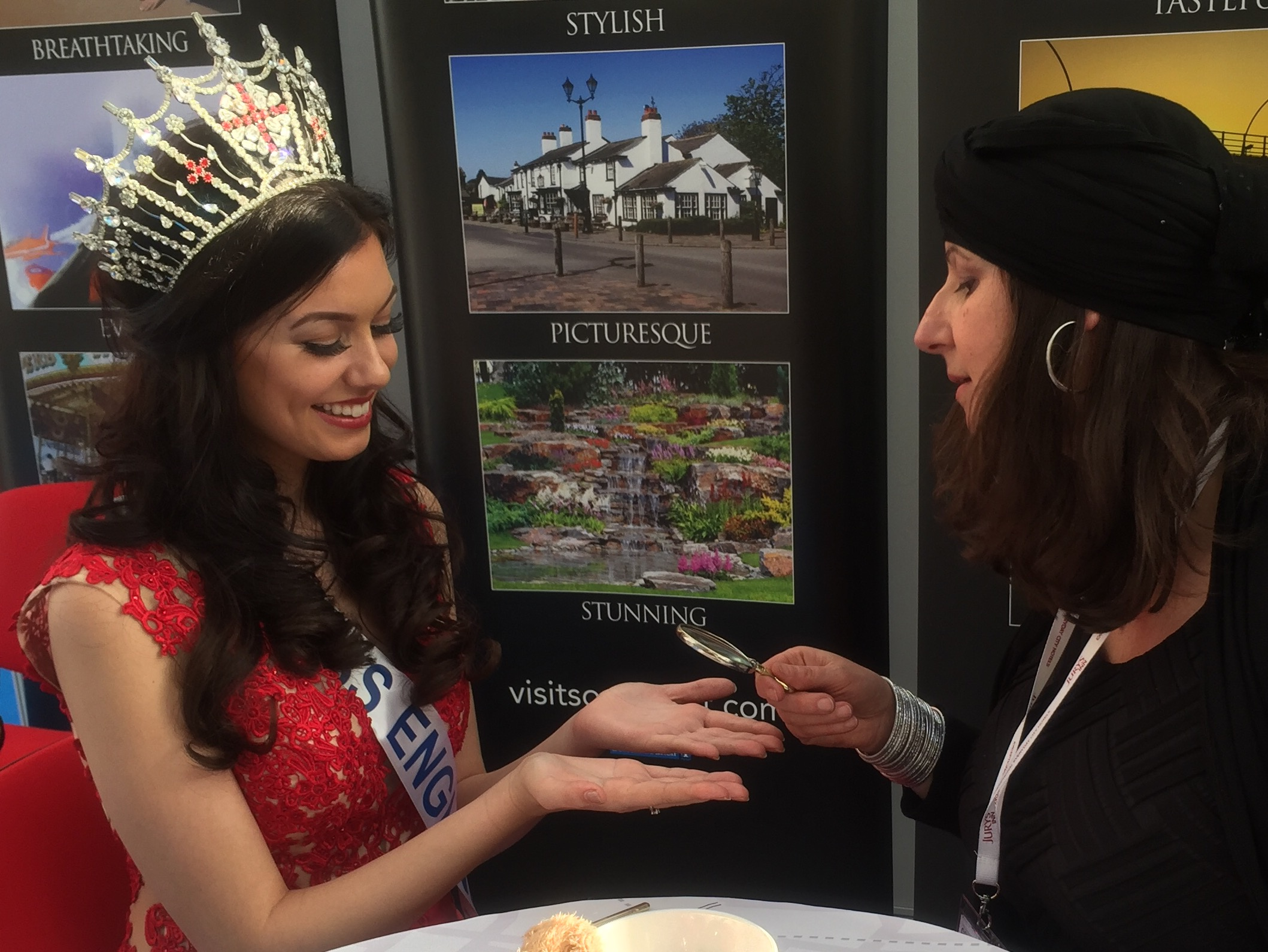 Reading the Palms of Miss England