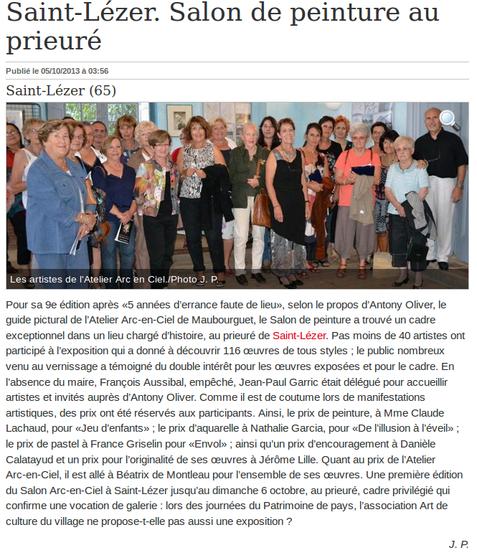 Prix aquarelle Saint Lézer