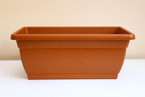 Jardineira 40cm com Prato Embutido Cor Cerâmica