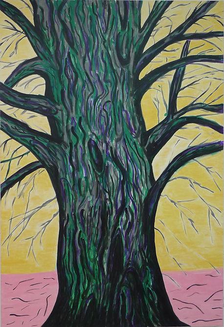 """Global Warning"" 2015 acrylic polymer on canvas 220cm. x 150cm. Dina Grossman Moshe"