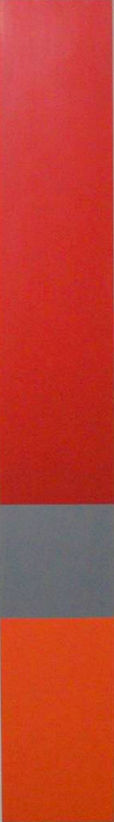 untitled, acrylic polymer on masonite, 240cm. x 35cm. Dina Grossman Moshe