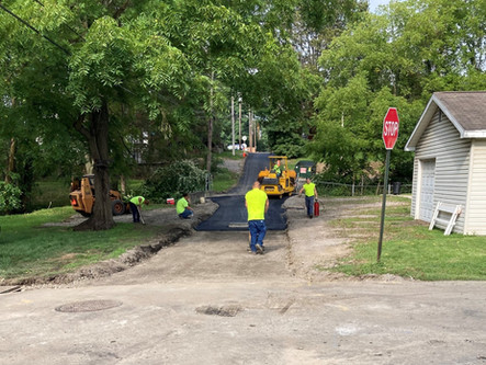 Burns Avenue Paved! (Also, Grant & 13th being painted this week)
