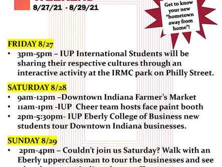 IRMC Park Road Closure This Weekend for IUP Weekend Downtown Event