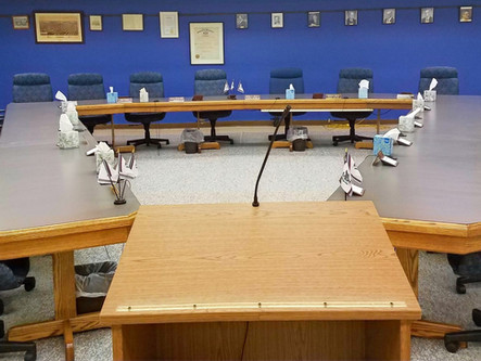 Council meeting to be held on 9/21 at 7PM
