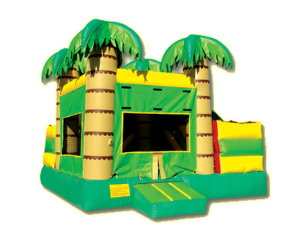 Inflatable Tropical Palm Tree Bouncer Combo