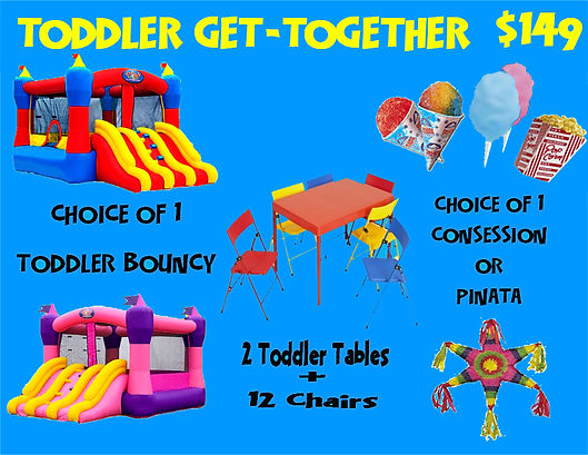 Toddler Get-Together Bounce Party Package