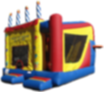 Birthday Cake Inflatable Bouncer