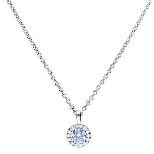 Dazzling Sky Blue Zirconia Pave Necklace
