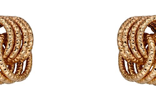 9ct Gold Twist knot earrings