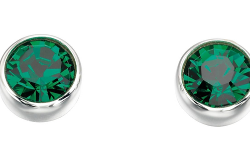 Sterling Silver May birthstone Swarovski crystal studs