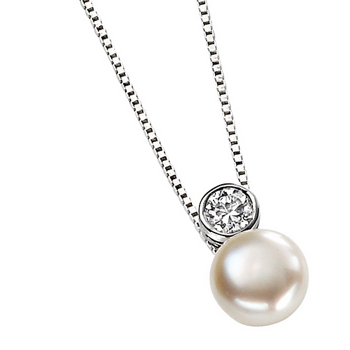 Sterling Silver Swarvoski pearl pendant