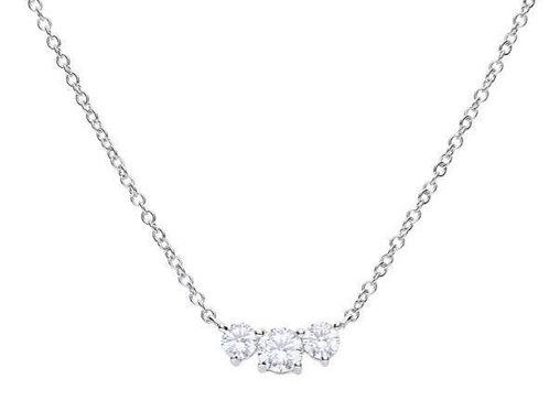 Dazzling 3 Stone Necklace