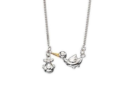 Fun Stork Necklace