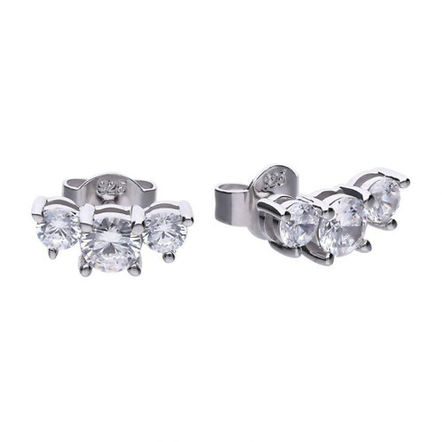 Dazzling 3 Stone Earrings