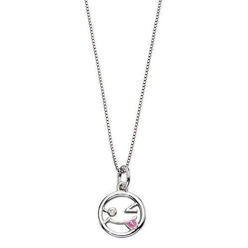 Wink Face Emoji Necklace