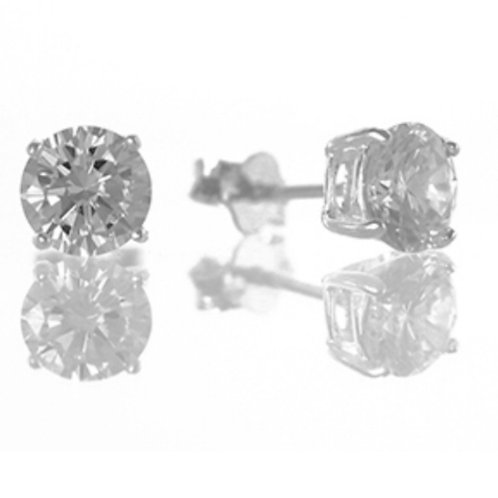 Sterling Silver Cubic Zirconia 5mm Studs