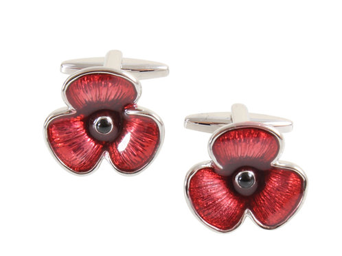 Red Poppy Cufflinks