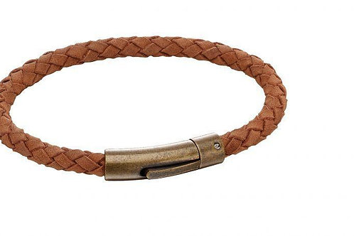 Brown Leather Bracelet by Fred Bennett