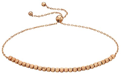 9ct Gold diamond cut adjustable bracelet