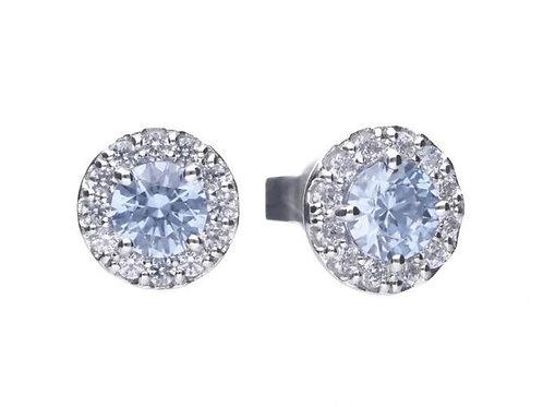 Dazzling Sky Blue Pave Earrings