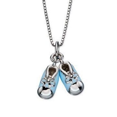 Cute Bootie Necklace Blue